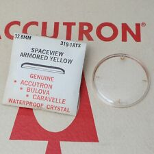 Accutron Spaceview 33.6mm Crystal Part #319-1AYS New Old Stock Armored Yellow