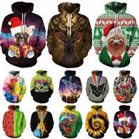 Men Women's Hoodie 3D Print Sweater Sweatshirt Coat Pullover Jacket Graphic Tops