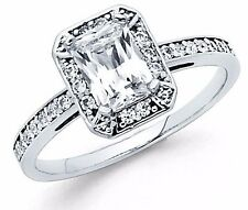 1.75 ct 14K White Gold Emerald Cut Diamond Solitaire Engagement Ring