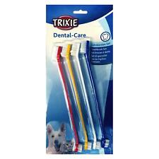 Trixie Dog Toothbrush Set with Double Ended Large and Small Brush Heads - 4 Pack