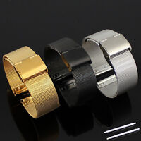 JT_ 18~24mm Stainless Steel Watch Mesh Bracelets Strap Perfect Handicraft Band
