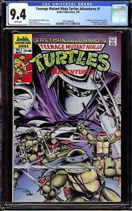 Teenage Mutant Ninja Turtles Adventures #1 CGC 9.4 NM...1989 Regular Series