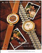 Publicité Advertising 1989 Les Montres Burberrys