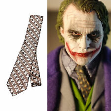 Batman Dark Knight Joker Necktie Silk Cravatta Seta Costume Cosplay Halloween