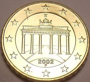 Gem Unc Germany 2002-F 10 Euro Cents~Brandenburg Gate~Awesome