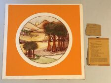 VTG 19.5x19.25 Ltd Ed hand SIGNED, NUMBERED etching MILL VALLEY by JEAN NANTAIS