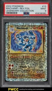 2002 Pokemon Legendary Collection Reverse Foil Machamp #15 PSA 9 MINT