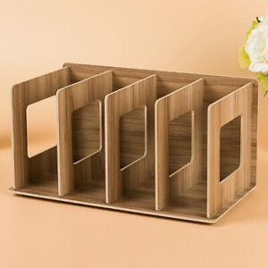 Wooden Desktop File Sorter Office A4 Filing Tray Document Organiser Storage Tool