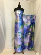 NEW Multi Colour Silky Soft Satin Floral Print Fabric 57'' 145cm Dress Cloth PGB
