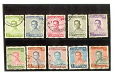 Thailand King Phumipol Rama IX  6th Series - 10 Different Stamps