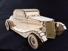 "Laser Cut Wooden ZZ Top ""Eliminator"" Car, Model/Puzzle Kit ~ Vintage Car"