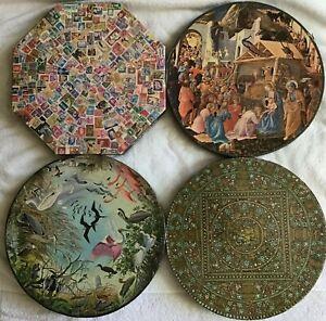 Lot of 4 Vintage Springbok Circular / Octagon puzzles (missing pieces)