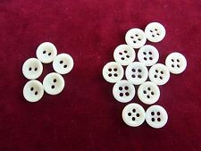 bv13/ 17 anciens boutons pâte verre blancs dia12mm 17 Old molten glass buttons