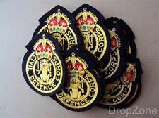 20 x British Military Civil Defence Corps Patches / Badges King's Crown