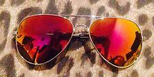 PINK Sunglasses Aviator Style Uni Sex Beach Grunge Women's Men Punk Festival
