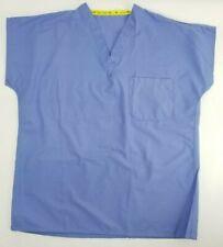 Fashion Seal Women sz Small Short Sleeve Blue Scrub Work