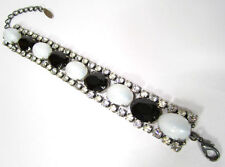 Versilberte Modeschmuck-Armbänder im Ketten-Stil