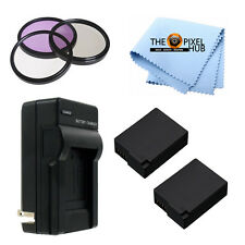 Panasonic Lumix DMC-FZ1000 Accessory Kit! Incl 2 Batteries, Charger + Filter Set