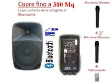 CASSA ATTIVA AMPLIFICATA BLUETOOTH USB SD MP3 RICARICABILE + TELECOMANDO