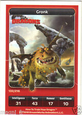 Carte Carrefour Dreamworks n° 132/216 - GRONK - Dragons