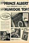 1948 Print Ad of Prince Albert Pipe & Cigarette Tobacco new humidor top