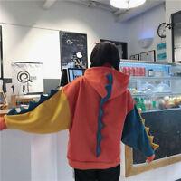 Cute Ladies' Preppy Style Dinosaur Hooded Sweatshirt Lolita Girls' Hoodie Coat