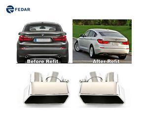 Fits 2007-2016 BMW F07 5 Series Stainless Steel Exhaust Muffler Muffler Tips