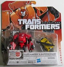 Hasbro ~ Transformers Generations ~ Autobot ~ Cliffjumper & Suppressor ~ Sealed