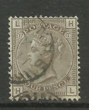 1873/80 Sg 154, 4d Grey Brown (HL) Plate 17, Good to fine used. {TT1449-131}