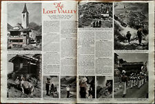 More details for the lost valley switzerland, swiss alps vintage article 1948