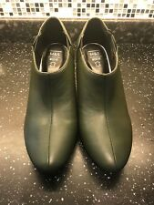 BNWT M&S Insolia Ladies Leather Olive colour Ankle Boots - Size 7.5 - RRP £49.50