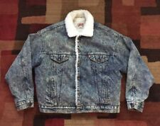 Vintage Levi's Denim Jean Sherpa Lined USA Made Truckers Jacket Mens Size XL