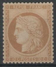 "FRANCE STAMP TIMBRE N° 36 a "" CERES  10c BISTRE-BRUN  1870 "" NEUF x TTB K548"