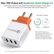 Fast usb chager 3 USB Port QC 3.0 Fast Charge Power Adapter Travel Wall Charger