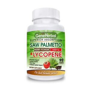 Saw Palmetto and Lycopene (1650 mg)Prostate Health &hair Care. The best Formula