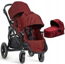 Wózek Baby Jogger City Select Double Głęboko-Spacerowy 3w1 GARNET,ONYX