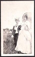 1920 CEDAR TREE POINT RHODE ISLAND 4TH OF JULY BOY & GIRL IN COSTUME OLD PHOTO