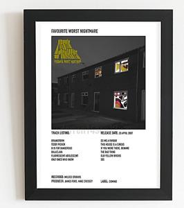 Arctic Monkeys Poster Polaroid Style Indie Album Art Poster A3 /A4 Valentines