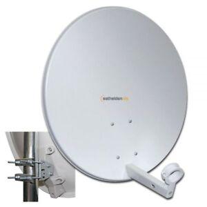 Megasat 60cm Sat Spiegel Satelliten Antenne Schüssel Stahl lichtgrau 60 cm