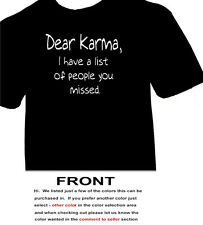Dear Karma I Have a list of people you missed   -  funny humerous t adult humor