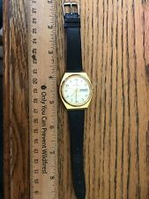 Vintage Helbros Men's Wristwatch with Leather Band ~