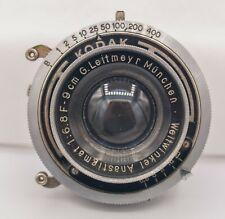 G.Leitmeyr Weitwinkel An. 9cm. F6.8 Medium Format 6x9 6x12 Lens - Kodak Shutter
