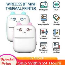 Smart Mini Pocket Thermodrucker Fotodrucker Wireless Tragbar +Roll Thermal Paper