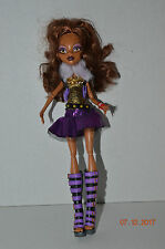 """Monster High~Doll 11""""~Ghouls Rule~Clawdeen Wolf~Horns~Brown Hair~Fluffy Vest"""