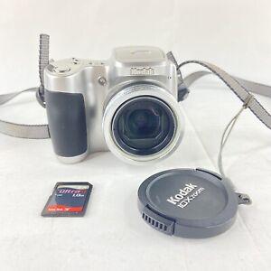 Kodak EasyShare Z710 7.1 MP Digital Camera 10x Zoom Silver w/ Memory Card Tested