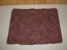 "(2) Pinch Pleat Pillow Sham ~ Dark Brown ~ 20"" x 36"" King **NEW**"
