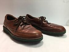 HUSH PUPPIES The Body Shoe Men's Brown Leather Lace Oxford Walking Shoe 10M