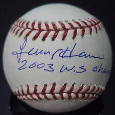 LENNY HARRIS 2003 W.S. CHAMPS SIGNED AUTOGRAPHED W.S BASEBALL W/COA