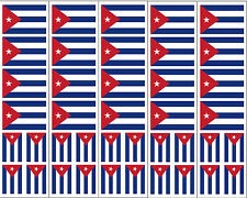 40 Removable Stickers: Cuba Flag, Cuban Party Favors, Decals