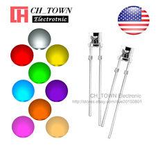 9kinds 180pcs 3mm LED Diodes Flat Top White Red Blue Purple/UV Mix Kits